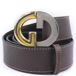 GUCCI Gucci Vintage Calf Brown Men's Belt [Used] A-Rank