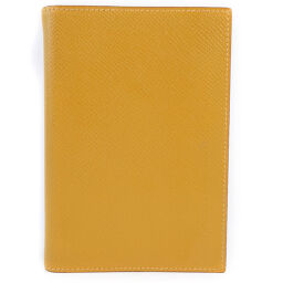 HERMES Hermes Agenda Vaux Epson Yellow □ D Engraved Ladies' Notebook Cover [Used] A-Rank