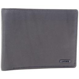 LACOSTE Lacoste wallet leather black men's wallet [used] S rank