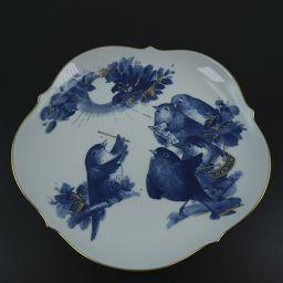 Meissen マイセン 2008 Memorial Plate 小鳥がやってきた 白/青 ユニセックス 食器【中古】Aランク