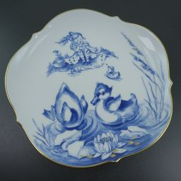 Meissen マイセン 2000 Memorial Plate アヒルがみんな 白/青 ユニセックス 食器【中古】Aランク