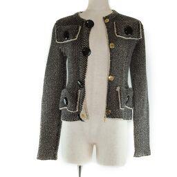 LOUIS VUITTON Rayon x Wool Black Women's Collarless Jacket [Used] A-Rank