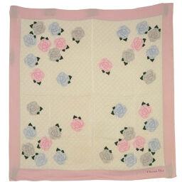 Dior Christian Dior Silk Pink Women's Scarf [Used]