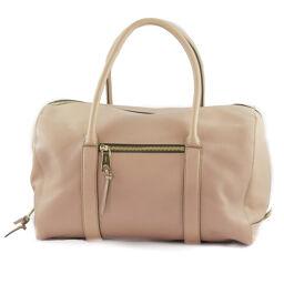 Chloe Chloe Boston Calf Pink Beige Ladies Handbag [Used] A rank