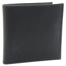 COACH コーチ カーフ 黒 メンズ 二つ折り財布【中古】