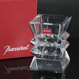 Baccarat バカラ コロンビーヌ ベース H9cm 2100928 クリスタル クリア 花瓶【中古】Sランク