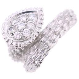 Boucheron Serpent Boheme 8P Diamond K18 White Gold × Diamond No. 12 Ladies Ring / Ring [Used] SA Rank