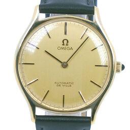 OMEGA オメガ デヴィル/デビル GP×レザー 手巻き メンズ ゴールド文字盤 腕時計【中古】A-ランク