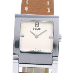 FENDI フェンディ オロロジ 004-5200G-452 ステンレススチール×レザー ブラウン クオーツ レディース ベージュ文字盤 腕時計【中古】A-ランク
