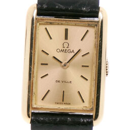 OMEGA Omega Devil / Devil cal.485 K18 Yellow Gold x Leather Manual Winding Ladies Gold Dial Watch [Used]