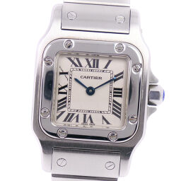 CARTIER カルティエ サントスガルベSM W20056D6 ステンレススチール クオーツ レディース シルバー文字盤 腕時計       【中古】A-ランク    </splt>   </splt>        </body> </html>