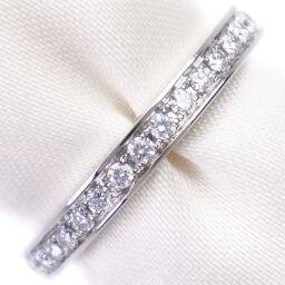 BVLGARI Bvlgari Dedi Carta Half Eternity Pt950 Platinum x Diamond No. 7.5 Ladies Ring / Ring [Used] A rank