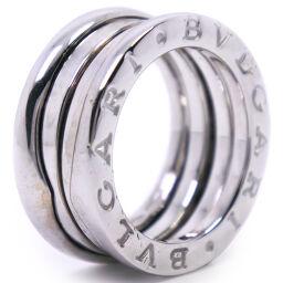BVLGARI Bzero1 / Bzero One 2 Band K18 White Gold No. 6 Ladies Ring / Ring [Used]