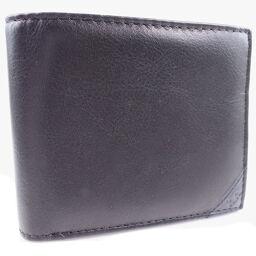 hiromichi nakano ヒロミチナカノ 牛革 黒 メンズ 二つ折り財布【中古】SAランク