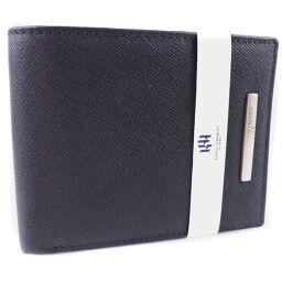 KANSAI YAMAMOTO カンサイヤマモト 牛革 黒 メンズ 二つ折り財布【中古】Sランク