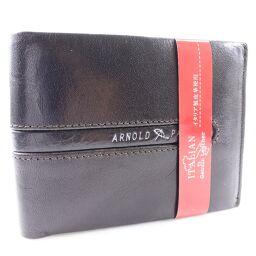 Arnold Palmer アーノルドパーマー 牛革 黒 メンズ 二つ折り財布【中古】Sランク