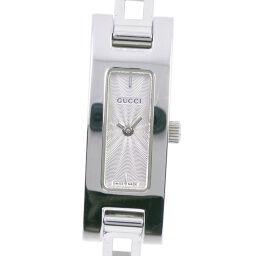 GUCCI グッチ 3900L ステンレススチール クオーツ レディース シルバー文字盤 腕時計【中古】A-ランク