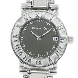 TIFFANY&Co. ティファニー アトラス ステンレススチール クオーツ レディース グレー文字盤 腕時計【中古】A-ランク