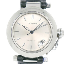 CARTIER Cartier Pasha 1031 Stainless Steel x Leather Self-winding Unisex Silver Dial Watch [Used]