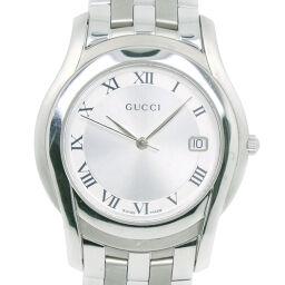 GUCCI グッチ 5500M ステンレススチール クオーツ メンズ シルバー文字盤 腕時計【中古】Aランク