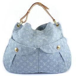 LOUIS VUITTON Louis Vuitton Daily GM M40492 Monogram Denim Blue Clair FO2101 Engraved Women's Shoulder Bag [Used] A-Rank