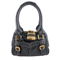 Chloe Chloe Leather Black Ladies Handbag [Used]