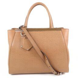 FENDI FENDI Petit Toujour 2WAY Shoulder 8BH253 00D7E F0H48 Leather Beige Ladies Handbag [Used] A rank