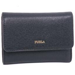 Furla Furla Leather Black Ladies Tri-Fold Wallet [Used] A + Rank