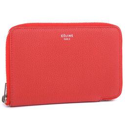 CELINE Celine Medium Zip Round 104393AU8.27PE Calf Women's Bi-Fold Wallet [Used] S Rank