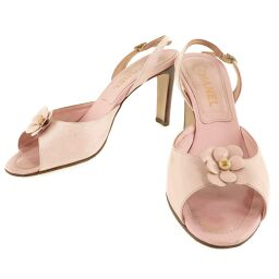 CHANEL Chanel Sandals Leather Pink Women's Mule [Used]