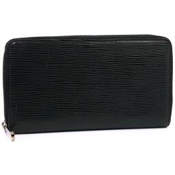LOUIS VUITTON Zippy Organizer Round Zipper M63852 Epi Leather Black SN4154 Engraved Men's Wallet [Used]
