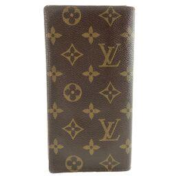 LOUIS VUITTON Louis Vuitton Porto Cult Credit M60825 Monogram Canvas Brown CI0044 Engraved Men's Wallet [Used]