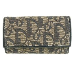 Dior Christian Dior Trotter 6-series canvas x leather black ladies key case [used]