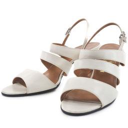 TRUSSARDI calfskin white ladies sandals [used]