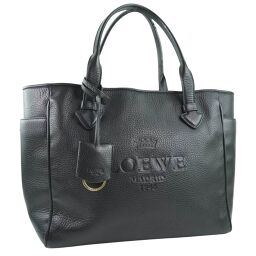 LOEWE Loewe Heritage 377.79.751 Calf Black Ladies Tote Bag [Used]