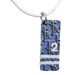 Dior クリスチャンディオール トロッター ブルー レディース ネックレス【中古】A-ランク