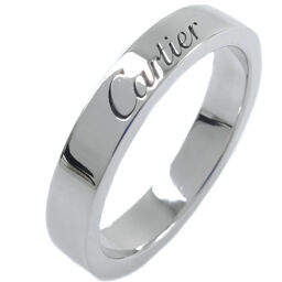 CARTIER Cartier Engraved Pinky Pt950 Platinum No. 5 Ladies Ring / Ring [Used] A + Rank