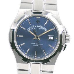 VACHERON CONSTANTIN Vacheron Constantin Overseas 72040 / 423A-8464 Stainless Steel Quartz Men's Blue Dial Watch [Used] A-Rank