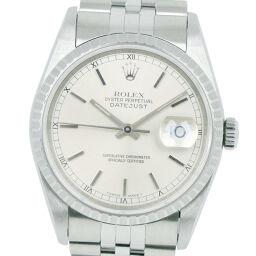 ROLEX ロレックス デイトジャスト 16220 ステンレススチール 自動巻き メンズ シルバー文字盤 腕時計【中古】Aランク