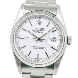 ROLEX ロレックス デイトジャスト 16200 ステンレススチール 自動巻き メンズ シルバー文字盤 腕時計【中古】Aランク