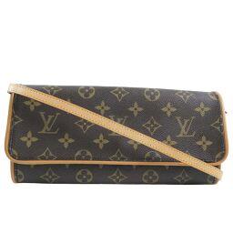 LOUIS VUITTON Louis Vuitton Pochette Twin M51852 Monogram Canvas Brown Women's Shoulder Bag [Used]