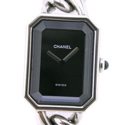CHANEL シャネル プルミエールL H0452 ステンレススチール シルバー クオーツ レディース 黒文字盤 腕時計【中古】