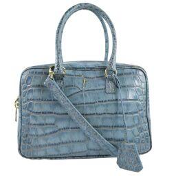 ADMJ Accessois ADMJ 2WAY Bag Leather Blue Ladies Handbag [Used] A + Rank