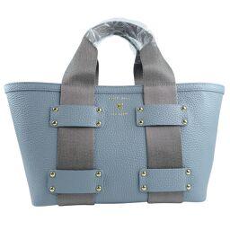 ADMJ Accessois ADMJ Bag Leather Light Blue Ladies Handbag [Used] S Rank