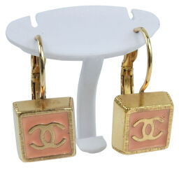 CHANEL Chanel Coco Mark GP Pink Ladies Earrings [pre-owned]