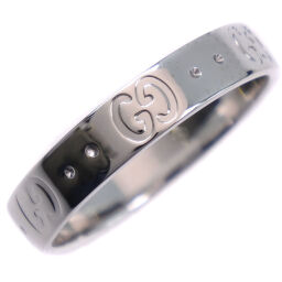 GUCCI Gucci Icon K18 White Gold No. 14.5 Unisex Ring / Ring [Used] A rank