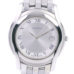 GUCCI Gucci 5500M Stainless Steel Quartz Men's Silver Dial Watch [Pre]