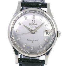 OMEGA オメガ コンステレーション cal.561 14393/4 K18ホワイトゴールド×ダイヤモンド×レザー 自動巻き メンズ シルバー文字盤 腕時計【中古】