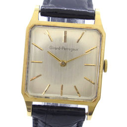 GIRARD-PERREGAUX ジラール・ペルゴ ビンテージ K18イエローゴールド×レザー 手巻き メンズ ゴールド文字盤 腕時計【中古】