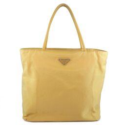 PRADA Prada TESSUTO CITY B7699 Nylon GINESTRA Yellow Ladies Handbag [Used]